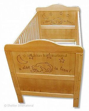 Baby Cotbed - Alex - Engraved - Wholesale
