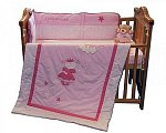 Cot Quilt and Bumper Set - Little Princess