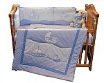 Cot Quilt and Bumper Set - Boat