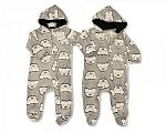 Baby Onesie - Hooded All in One - Teddy
