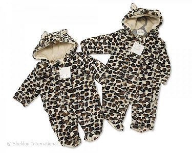 Leopard Print Baby All in One - 6-23 Months - Wholesale