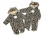 Leopard Print Baby All in One - 6-23 Months