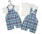 Baby Boys 2 pcs Woven Dungaree Set - Cool Dude