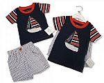 Baby Boys 2 pcs Cotton Shorts Set - Sailing