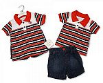 Baby Boys 2 pcs Denim Shorts Set - Sailing