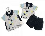 Baby Boys 2 pcs Cotton Shorts Set - Dino