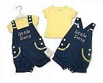 Baby Girls 2 pcs Denim Dungaree Set - Little Daisy