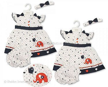 Baby Dress 9-24 Months - Elephant - Wholesale