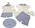 Baby Boys 2 pcs Set with Hat - Sailing