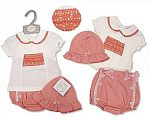 Baby Girls 2 pcs Set with Lace and Hat