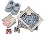 Wholesale Knitted Booties with Pompoms