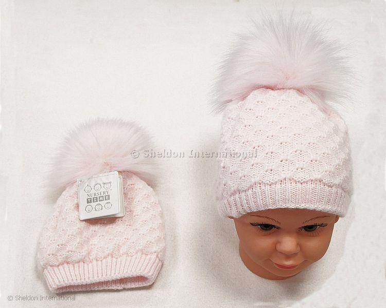 Baby Girls Pom Pom Hat 319 Wholesale