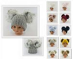 Wholesale Hat with Double Pom-Pom - 7 Colours - Small