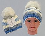 Wholesale Boys Knitted Pom-Pom Hat with Lining - 333s