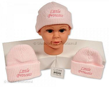 Baby Girls Knitted Hat - Little Princess - Wholesale