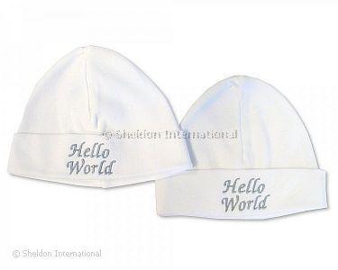 Baby Cotton Hat - Hello World - Wholesale e4288b855b96