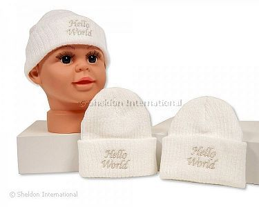 Baby Knitted Hat - Hello World - Wholesale