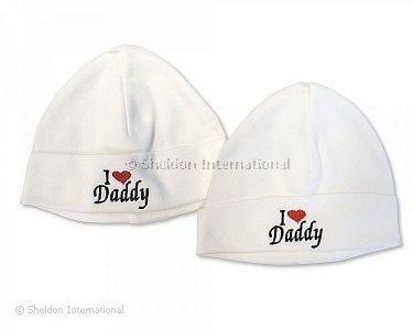 Baby Cotton Hat - I Love Daddy - Wholesale