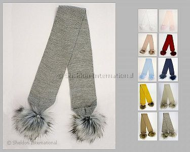 Baby Scarf with Pompoms - Wholesale
