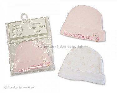 Premature Baby Girls Hats 2-Packs - Wholesale f2ea3ae15f59