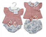 Baby Girls Knitted 2 Pieces Set with Bow