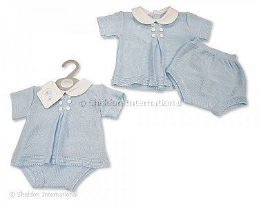 Knitted Baby Boys 2 pcs Set with Buttons - Wholesale