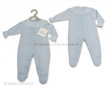 Knitted Baby Boys Long Romper - 924 - Wholesale