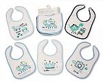 Baby Bibs Boys - PEVA Back - Packs of 5
