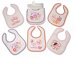 Baby Bibs Girls - PEVA Back - Packs of 5