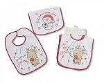 Baby  X-Mas Bibs with PEVA Back - Pack of 2
