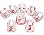 Baby Days of the Week Bibs - Girls - 674 - Wholesale