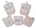 Baby Bibs - Nanna/Grandpa - Girls - Packs of 3