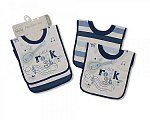 Baby Cotton Pop-Over Bibs  - Boys - Packs of 2