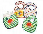 Baby Bibs Boys with PEVA Back - 3 Pack
