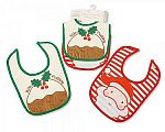 Wholesale Christmas Cotton Bibs 2 Pack - Little Pudding