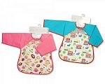 Baby PEVA Bibs with Sleeves -  Bus/ Cakes