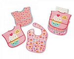 Baby Girls Polyester Bibs 3-Pack - Sweetest