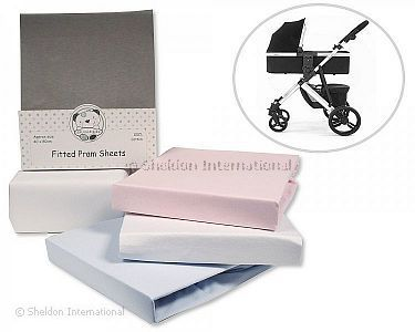 Cotton Pram Sheets - Fitted - 2 Pack - Wholesale