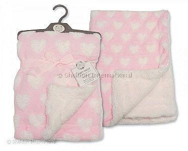 Baby Jacquard Wrap - Heart - Wholesale