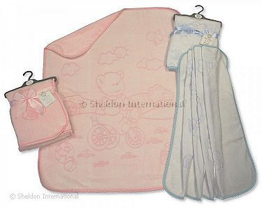 Baby Embossed Motif Wrap with Bulb Trimming - Wholesale
