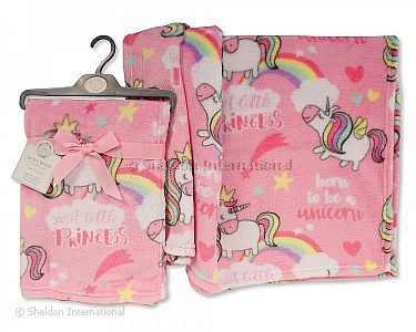 Baby Girls Printed Wrap - Unicorn - Wholesale
