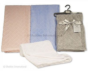 Baby Embossed Jacquard Flannel Wrap - Wholesale