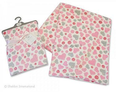 Baby Wrap Hearts - Pink - Wholesale