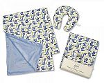 Baby Blanket and Neck Cushion Set - Boys
