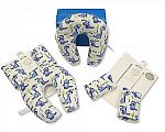 Baby Neck Cushion and Seat Belt Pads Travel Set - Boys
