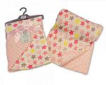 Wholesale Reversible Wrap - Stars - Pink