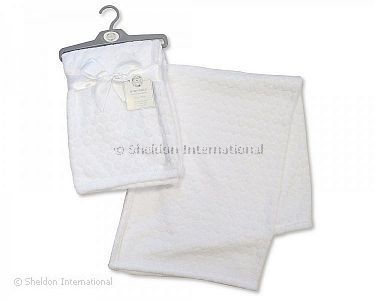 Embossed Baby Wrap - Circles - White - Wholesale