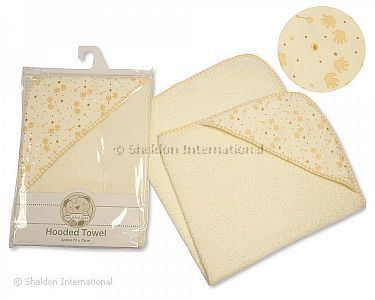 Baby Hooded Towel - Little Hands - Wholesale