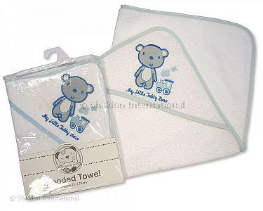 Baby Boys Hooded Towel - My Little Teddy Bear - Wholesale