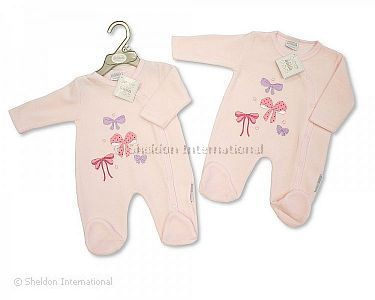 Baby Girls Velour All in One - Bows - Wholesale